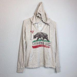 Billabong California Love bear beach hoodie medium